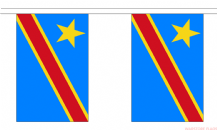 CONGO DR 2006 BUNTING - 3 METRES 10 FLAGS